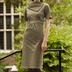 Shabby Apple Green After Class Dress Asymmetrical